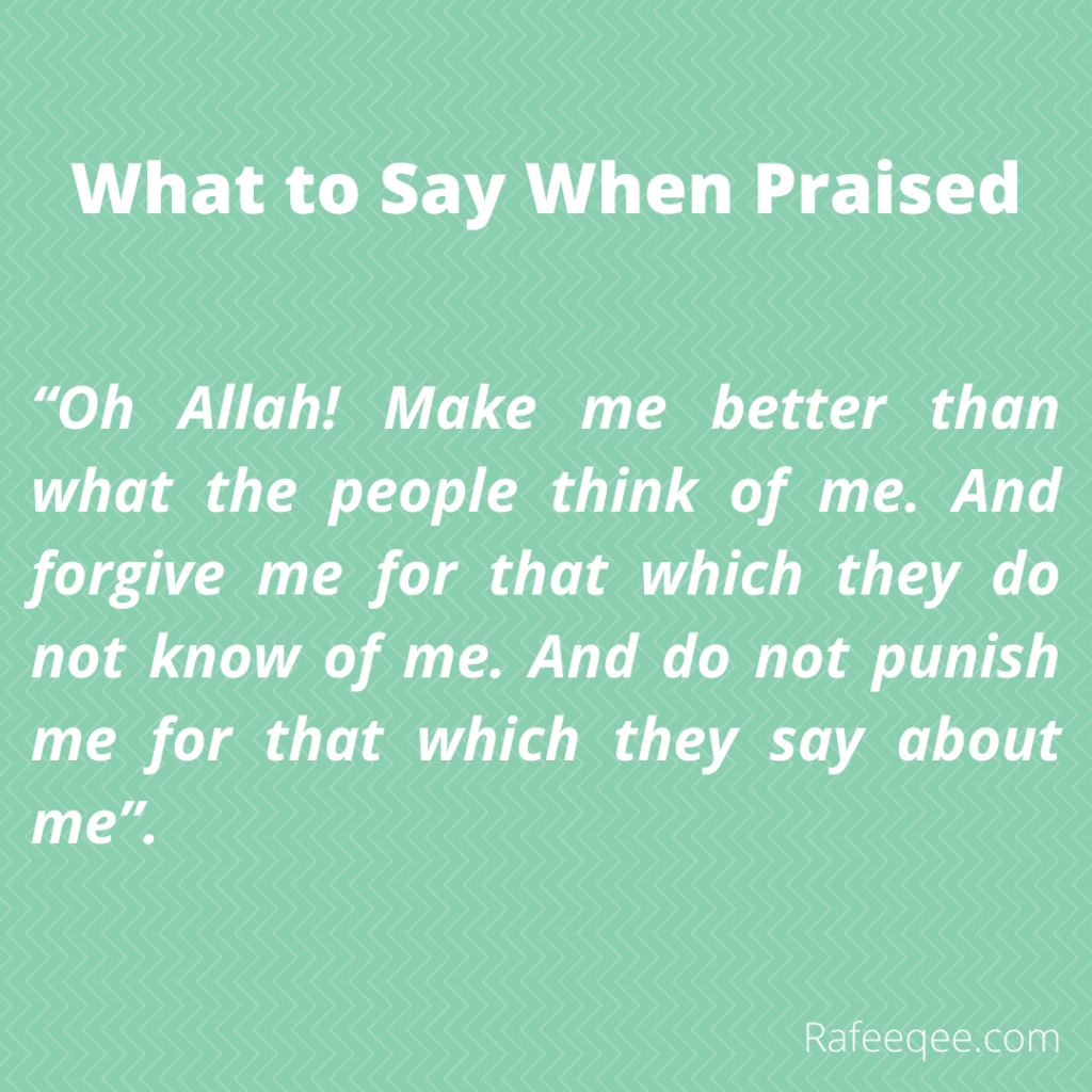 What to say when praised