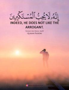 "Verily, Allaah likes not any arrogant boaster"" ["
