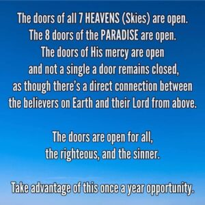 the gates of Hellfire are closed and none of its gates are opened. The gates of Paradise are opened and none of its gates are closed.