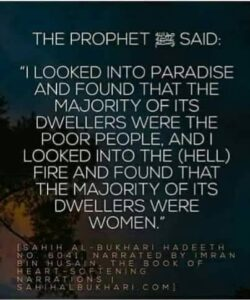 Hadith about women in hell
